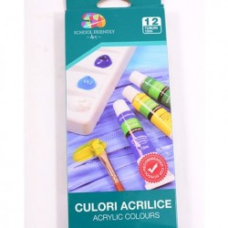 Set acrilic 12buc/set School Friendly
