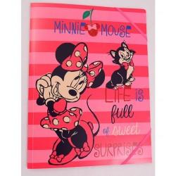 Mapa plastic cu elastic Minnie Mouse