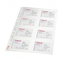 Folie protectie A4 pentru carti de vizita Esselte