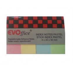 Index adeziv hartie 20x50mm 4 culori pastel/set