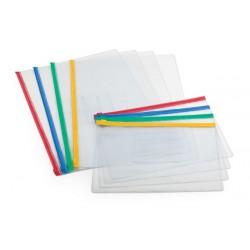Mapa plastic cu elastic si buzunar carti de vizita