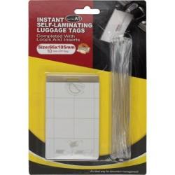 Folie autolaminanta pentru etichetat bagaje cu snur