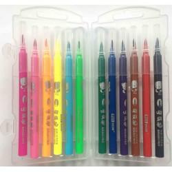 Carioca tip pensula 12 culori