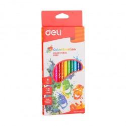 Creioane colorate 12 culori Emotion Deli