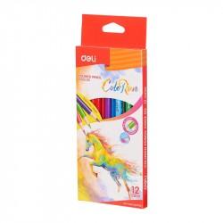 Creioane colorate 12 culori ColorRun Deli