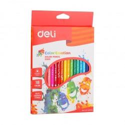 Creioane colorate 18 culori Emotion Deli