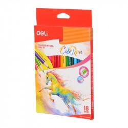 Creioane colorate 18 culori ColorRun Deli