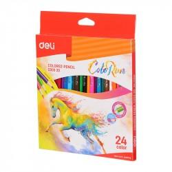 Creioane colorate 24 culori ColorRun Deli