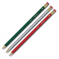 Creion Grafit HB cu guma lemn negru Star Adel