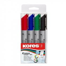 Marker flipchart 4buc/set 3mm Kores
