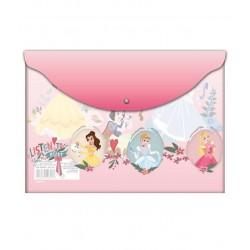 Mapa plastic cu buton A4 Princess
