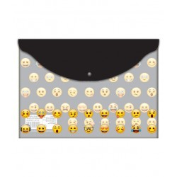 Mapa plastic cu buton A4 Emoji