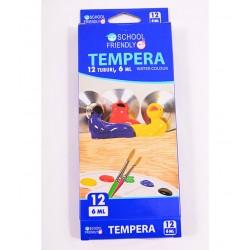 Tempera 12 culori School Friendly