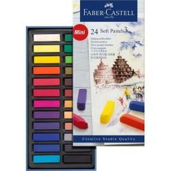 Cutie creioane Pastel Soft Mini 24 culori Faber-Castell