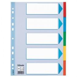 Separatoare carton 5 culori A4 Esselte Standard