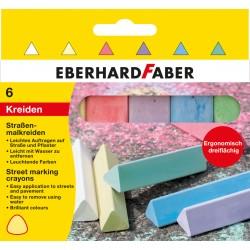 Creta asfalt 6 culori triunghiulare Eberhard Faber