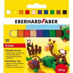 Plastilina 10 culori 185g Eberhard Faber