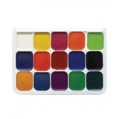 Acuarele semi-uscate 15 culori/set Pigna