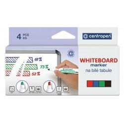 Marker whiteboard 4buc/set Centropen 8559