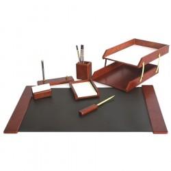 Set de birou din lemn