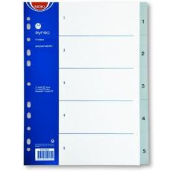Separatoare plastic A4 index 1-5, Noki