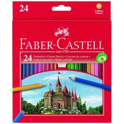 Creioane colorate 24 culori + ascutitoare Eco Faber-Castell