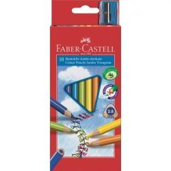 Creioane colorate 10 culori Jumbo Faber-Castell