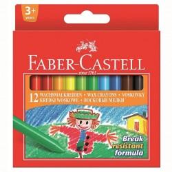 Creioane cerate 12 culori Clown Faber-Castell