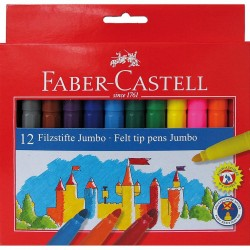 Carioca 12 culori Jumbo Faber-Castell