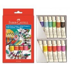Tempera 12 culori Faber-Castell