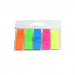 Index adeziv plastic 45x12mm, 5 culori neon