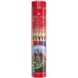 Creioane colorate 12 culori Tub Faber-Castell