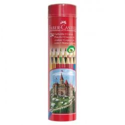 Creioane colorate 24 culori Tub Faber-Castell