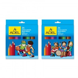 Creioane colorate 24 culori Adel