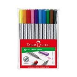 Liner 0.4 mm Grip set 10buc Faber-Castell