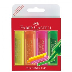Textmarker Set 4 Superfluorescent 1546 Faber-Castell