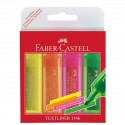 Textmarker Set 4 Superfluorescent 1546 Faber-Castell