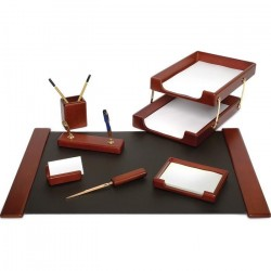 Set de birou din lemn maro 8 piese Forpus