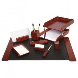 Suport de birou din lemn visiniu 9 piese Forpus