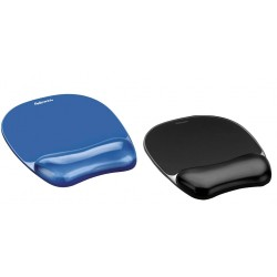 Mouse pad si suport incheieturi Fellowes Gel Crystal