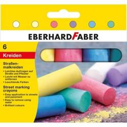 Creta 6 culori forma ou desen asfalt Eberhard Faber
