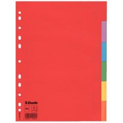 Separatoare carton 5 culori A4 Esselte Economy
