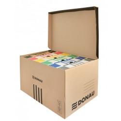 Container de arhivare cu capac deschidere superioara, carton 450gsm, DONAU