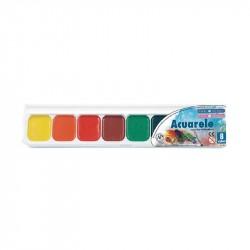 Acuarele 18 culori Colibri