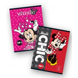 Caiet A5 24 file Tip II Minnie Mouse