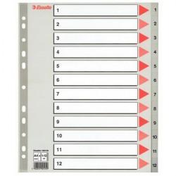Separatoare plastic index 1-12 Maxi Esselte