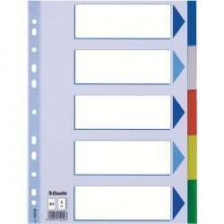 Separatoare plastic A4 5 culori Esselte