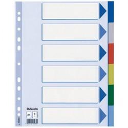 Separatoare plastic A4 6 culori Esselte