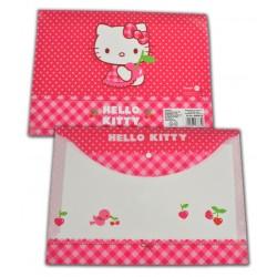 Mapa plastic cu buton A4 Hello Kitty
