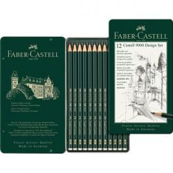 Set Design 12 Creione Grafit Castell 9000 Faber-Castell
